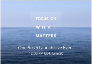 Oneplus 5 live streaming