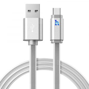 smartylife-HOCO UPL12 2.4A Jelly Type-C Braided Cable with Light 1.2M