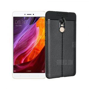 smartylife-Smooth Litchi Pattern PU Leather Soft Back Case for Xiaomi Redmi Note 4X