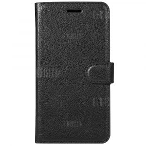smartylife-Solid Color Litchi Pattern Wallet Style Front Buckle Flip PU Leather Case with Card Slots for Xiaomi Redmi Note 4X