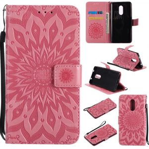 smartylife-Sun Flower Printing Design Pu Leather Flip Wallet Lanyard Protective Case for Xiaomi Redmi Note 4
