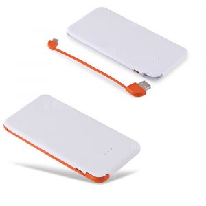 smartylife-4000mAh Power Bank Built-in Micro USB Cable