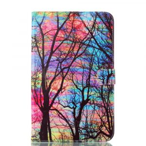 smartylife-Color Tree Ultrathin Luxury Genuine Leather Case for Samsung Galaxy Tab E 9.6 inch T560 T561 Tablet PC Cover Case