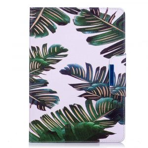 smartylife-Green Leaves Leather Protection Case for iPad 10.5