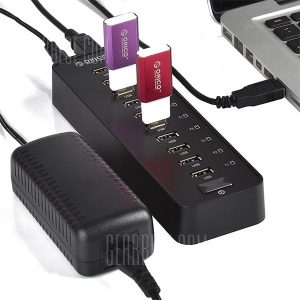 smartylife-ORICO P10 - U2 10 - Port USB 2.0 Hub for MAC Notebook Tablet PC Windows XP 7 8