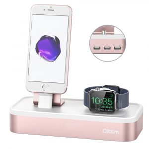 smartylife-Oittm for Apple Watch Series 3 Stand 5-port USB Rechargeable Stand for iWatch and iPhone/iPad Mini/iPod/Apple Pencil