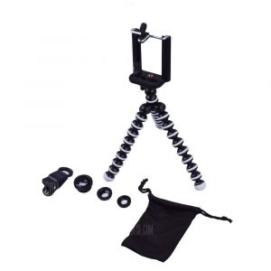 smartylife-Phone Fisheye Wide Angle Macro Lens Tripod holder