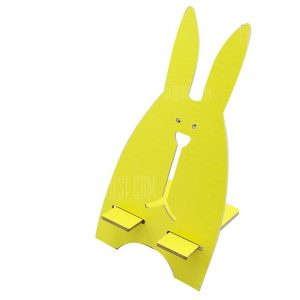 smartylife-Small Cute Rabbit Wooden Universal Smart Phone Stand Mount Desk Holder