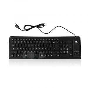 smartylife-Wired Silent Waterproof 103-key Silicone Roll-up Keyboard