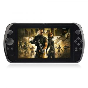 smartylife-GPD Q9 7 Inch Android 4.4 Gamepad RK3288 Quad Core 1.8GHz 2GB/16GB Handheld Game Console IPS 1024*600 Game Tablet PC WiFi HDMI - Black
