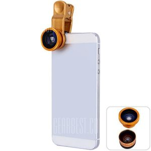 smartylife-LIEQI LQ011 Fashionable 3 in 1 Clamp Camera Lens Including Fisheye Macro and Wide Angle