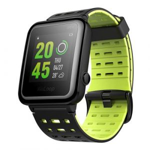 smartylife-WeLoop Hey 3S 1.28 Inch Memory LCD Sports Smart Watch 50 Meters Water Resistance Bluetooth 4.0 - Green