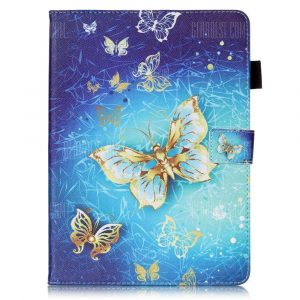 smartylife-Wkae Mixed Colors Painted Three Dimensional Pattern Flat Leather Case for iPad Pro 9.7 inch