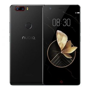 smartylife-ZTE Nubia Z17 5.5 Inch 4G LTE Smartphone 6GB 64GB Dual Rear Cam 23.0MP + 12.0MP Snapdragon 835 Octa Core Android 7.1 NFC (Black) + Soft Case + Tempered Glass
