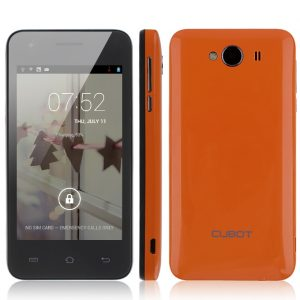 smartylife-CUBOT GT72 4.0 Inch TFT Screen MTK6572 Dual Core 1.2GHz Smartphone 256MB/512MB 2.0MP Camera Android 4.2 OS with GPS - Orange