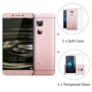 smartylife-LeTV LeEco Le Max 2 X820 5.7inch 2K Screen Android 6.0 OS 4GB 32GB 64-Bit Qualcomm Snapdragon 820 Quad Core Smartphone(Rose Gold) + Tempered Glass + Soft Case