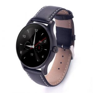 smartylife-Makibes K88H Smart Bluetooth Watch MTK2502C Heart Rate Monitor Siri Function Gesture Control with Leather Band For iOS Andriod (Lovers Version) - Black