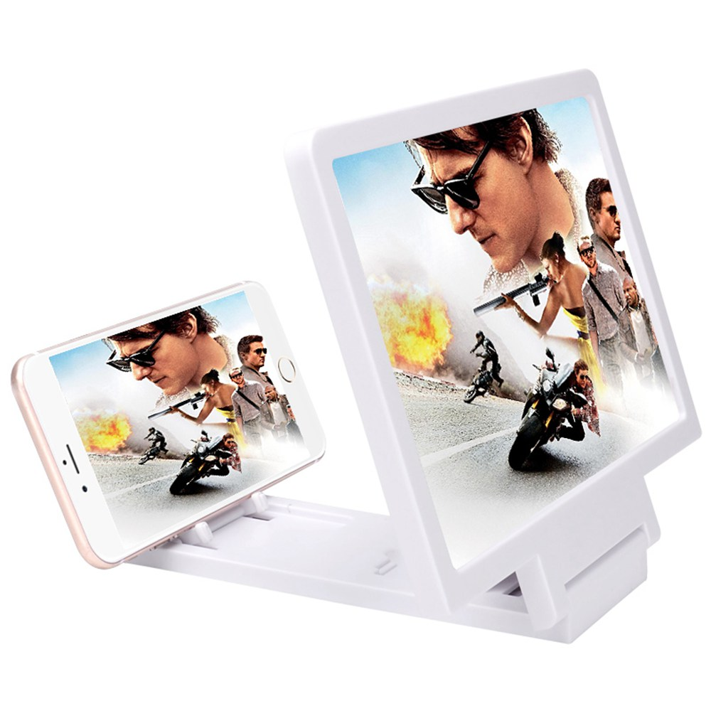 smartylife-Smartphone Screen Amplifier 3D HD Movie Video  Amplifying Holder with Foldable Stand - White