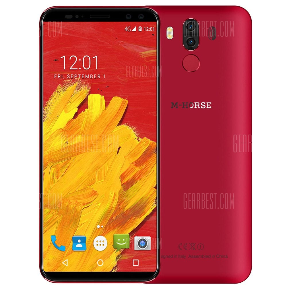 smartylife-M-HORSE Pure 3 4G Phablet 5.7 inch Android 7.1 MTK6763