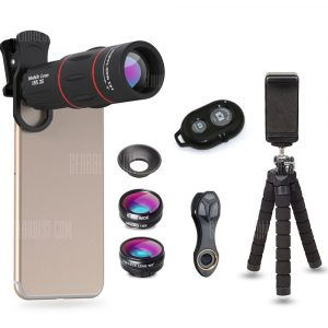 smartylife-APEXEL APL-18DG3ZJB Cell Phone Camera Lens Kit 18X Telescope with Tripod Stand