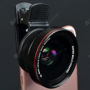 smartylife-0.45x Super Wide-angle + Macro Lens Mobile Phone SLR External Camera 52MM UV Distortion-free Wide-angle Lens