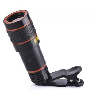 smartylife-HD 12x Optical Zoom Camera Telescope Lens With Clip For iPhone/For Phone Univers