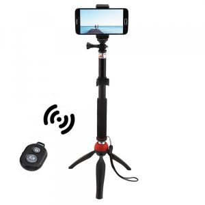 smartylife-Mini Tripod Mount Selfie Stick Bluetooth Shutter Holder