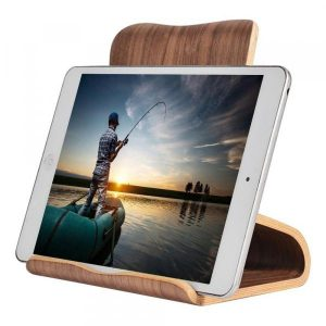 smartylife-SAMDI Wood Tablet Computer Holder Wooden Stand for iPad