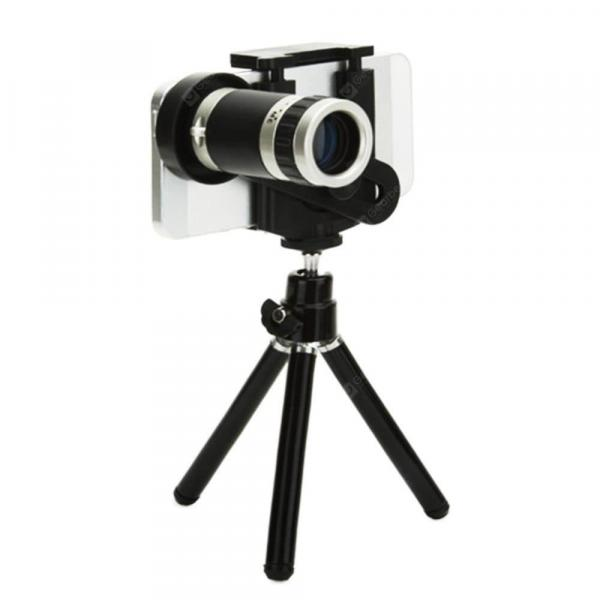 smartylife-Wireless Bluetooth Universal 8x Optical Zoom Telescope Camera Lens with Tripod