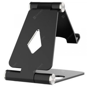 smartylife-Double Folding Bracket Aluminum Alloy Mobile Phone Bracket Metal Desktop Bracket  Gearbest