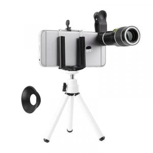smartylife-20X Zoom Mobile Phone Clip Telescope Telephoto Camera Lens with Tripod  Gearbest