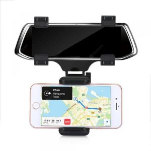 smartylife-240 Degree Swing Car Rearview Mount Holder for Phone  Gearbest