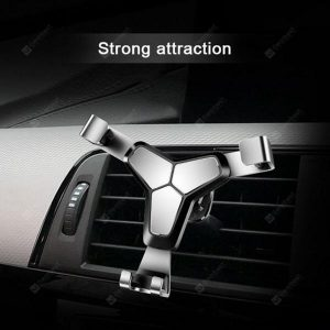 smartylife-LEEHUR Metal ABS Universal Gravity Car Holder Stand Bracket for Mobile Phone  Gearbest