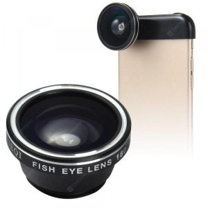 smartylife-LIEQI LQ - 018 3 In 1 180 Degree Fisheye Photo Lens  Gearbest