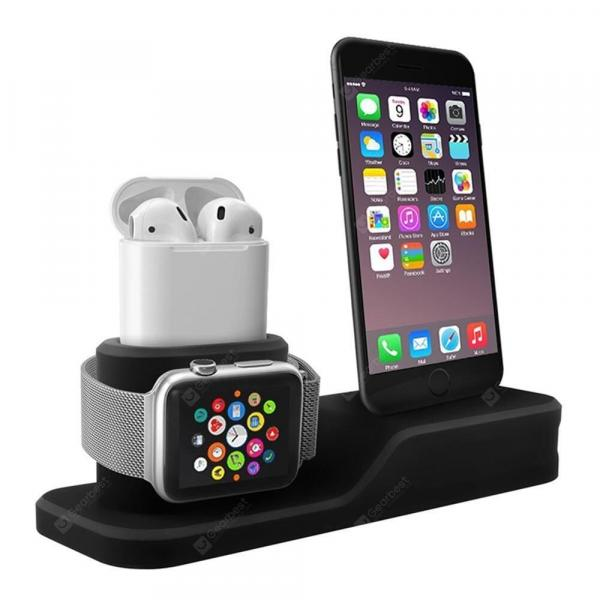 smartylife-Silicone 3 in 1 Charging Stand Holder Dock for iPhone for Apple Watch/ AirPods  Gearbest
