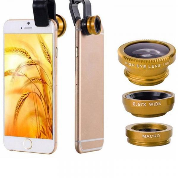 smartylife-3 in 1 Wide Angle Macro Fisheye Mobile Phone Lenses Kit  Gearbest