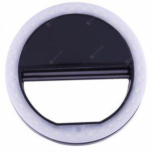 smartylife-Black Portable Selfie Ring Light For Mobile Phone Led Flash Fill Lamp  Gearbest