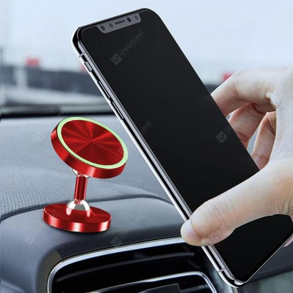 smartylife-LEEHUR Luminous Magnetic Car Phone Holder Stand Bracket Support for Mobile Phone  Gearbest