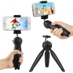 smartylife-Mini Tripod Flexible Stand with Holder Clip Ball Head for Smart Phone Camera  Gearbest