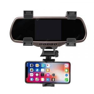 smartylife-Rotation Rear View Mirror Mount Phone Holder  Gearbest
