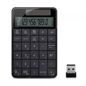smartylife-Wireless 2.4 G in One Small Digital USB Keyboard with Screen Calculator Business  Gearbest