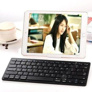 smartylife-Wireless Bluetooth Keyboard Flat Fruit Android Tablet Phone Universal Keyboard Ultra-thin Silent Mini Three System Universal  Gearbest