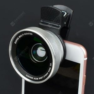 smartylife-0.45x Super Wide-angle + Macro Lens Mobile Phone SLR External Camera 52MM UV Distortion-free Wide-angle Lens  Gearbest