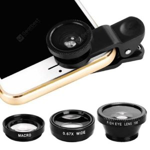 smartylife-3 in 1 Mobile Phone Fisheye Lens Magnifying Glass Wide Angle Macro  Gearbest