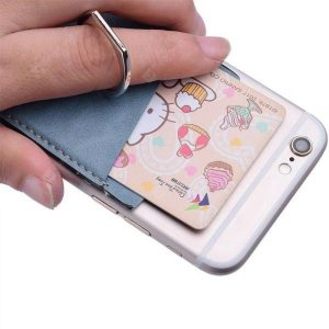 smartylife-LEEHUR Phone Stand Holders Finger Ring Stand with Card Case  Gearbest