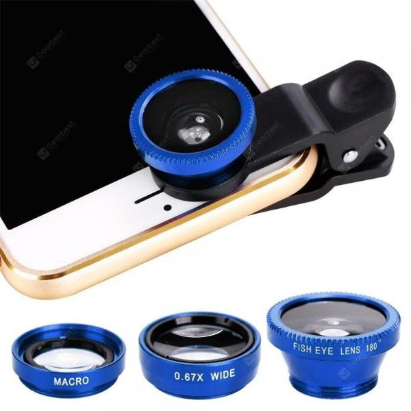 smartylife-Minismile 3-in-1 Fisheye and Wide Angle and Macro Phone Camera Lens Kit for iPhone X / 8 Plus / 8 / 7 Plus / 7  Gearbest