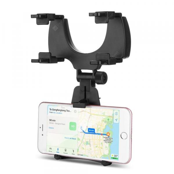 smartylife-360 Degree Rotation Rear View Mirror Mount Phone Holder  Gearbest