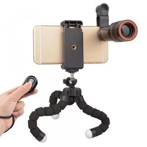 smartylife-APEXEL APL-HS12XZJB Phone Photography Kit 12X Telescope Lens with Octopus Tripod  Gearbest