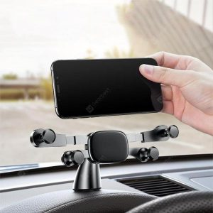 smartylife-Horizontal Gravity Linkage Automatic Lock Dashboard Mount Car Phone Holder  Gearbest