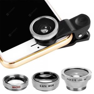 smartylife-Minismile 3-in-1 Fish Eye and Wide Angle and Macro Phone Camera Lens for iPhone / Samsung / Xiaomi / HUAWEI  Gearbest